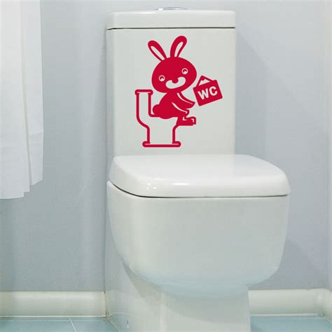 stickers muraux pour toilette sticker toilettes lapin rieur stickers toilettes porte ambiance sticker