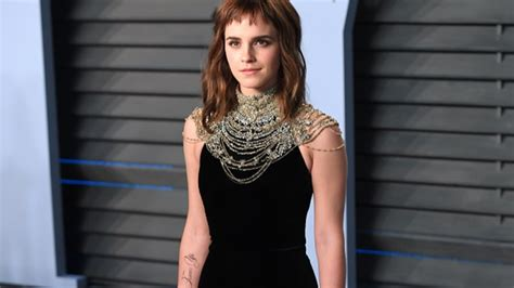 English Graduate Emma Watson Time Tattoo Missing