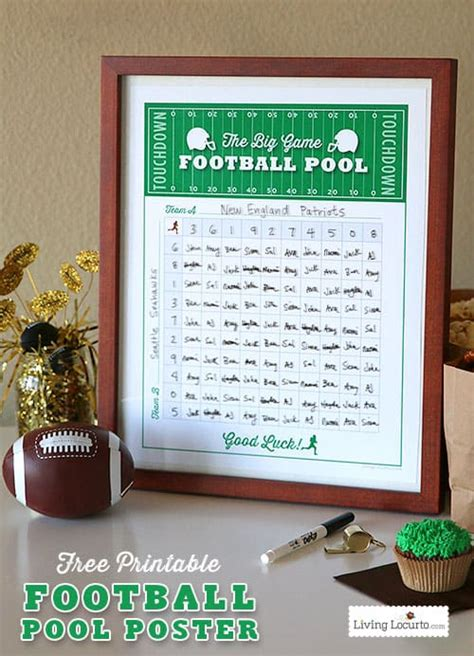 football squares template  printable party game