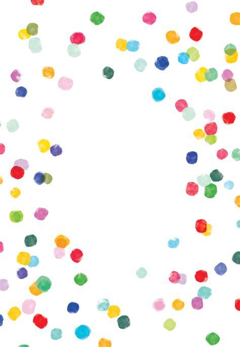 confetti party birthday card  island