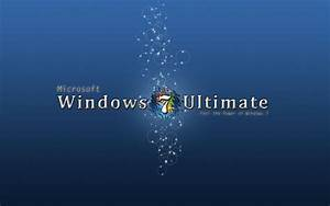 Blue Windows 7 Ultimate HD desktop wallpaper : Widescreen ...