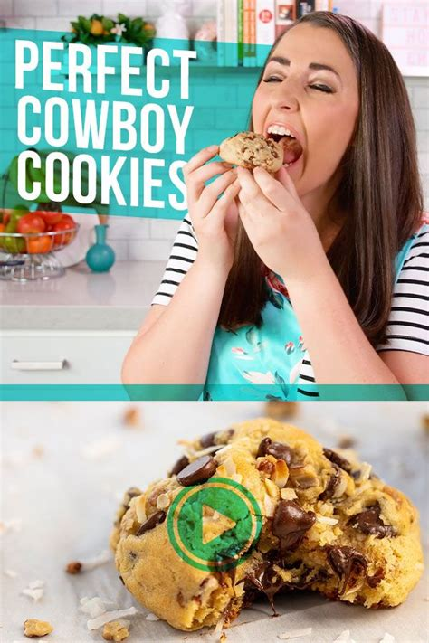 perfect cowboy cookies video recipe cowboy cookie
