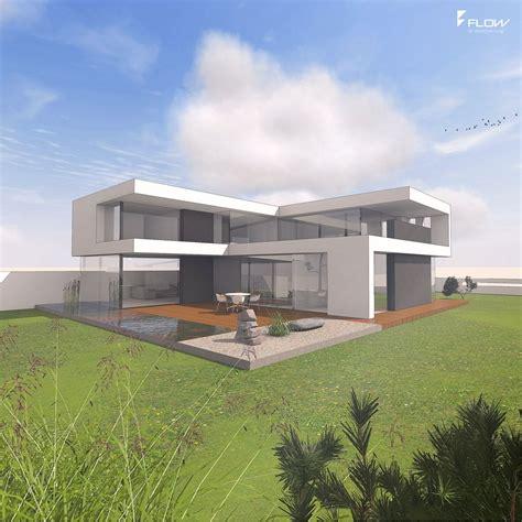 Moderne Puristische Häuser by Modernes Wohnhaus Mit Flachdach By Www Flow Architektur De