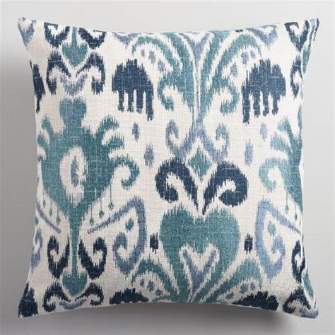 world market pillows indigo ikat jacquard throw pillow world market