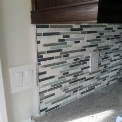 Backsplash Glass Tile Edging by Metal Trim Purchased At Tile Depot Also Description From