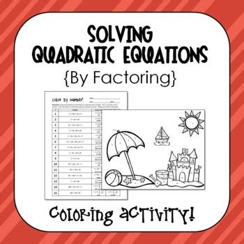 quadratic equations solve  factoring coloring activity