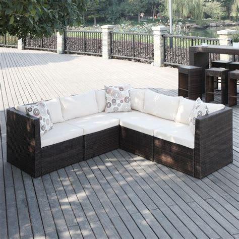 small outdoor sectional sofa portfolio aldrich brown indoor outdoor 5 piece sectional