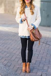 Oversized Sweater + Chambray Shirt • BrightonTheDay