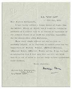 Lot detail 1943 typed letter signed from winston for Churchill letters