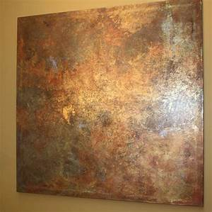 364 best metal effects ideas images on pinterest modern for Best brand of paint for kitchen cabinets with copper patina wall art