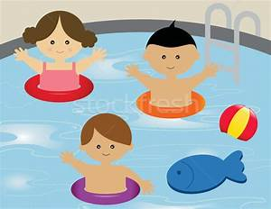 Children Swimming In Pool Clipart - ClipartXtras