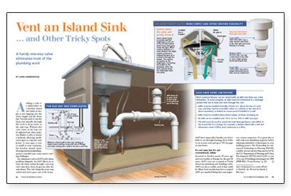 kitchen island sink plumbing vent an island sink and other tricky spots 5154