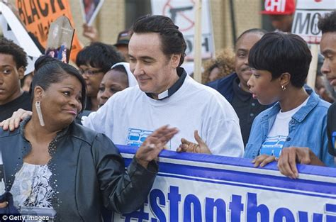 John Cusack And Jennifer Hudson Attend Chicago Peace March