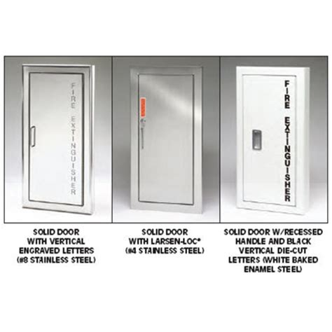 larsen extinguisher cabinets 2409 6r general description larsen s architectural series is a