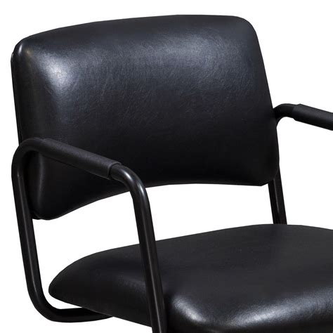 steelcase used leather side chair black national office