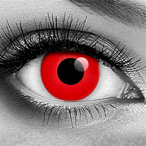 Red Vampire FX Contact Lenses  Pair  Discount Theatrical