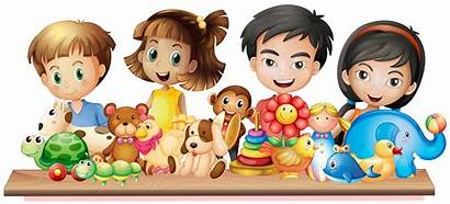 Toys Children Looking Many Vector Playing Graphics