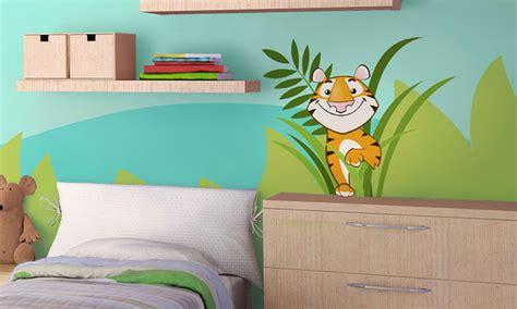 Stickers Per Camerette Bambini by Stickers Murali Bambini Cameretta Nella Giungla