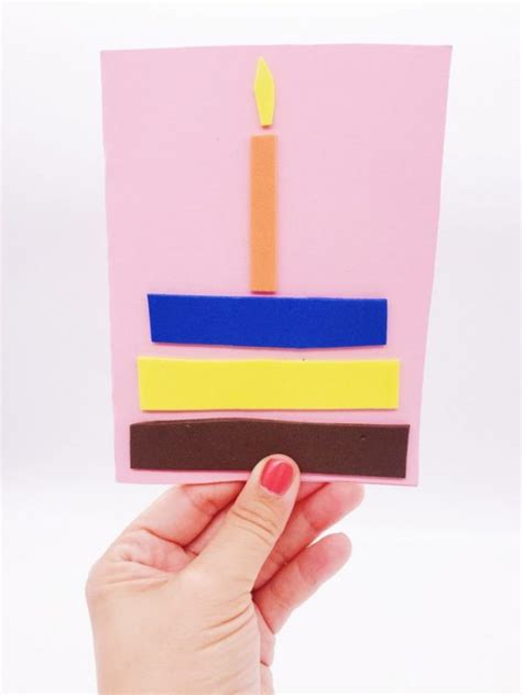 geburtstagskarte basteln aus papier geburtstagskarte basteln aus moosgummi