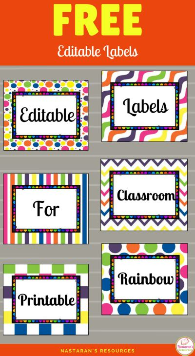 editable labels for classroom free gt nastaran s resources 855 | free editable labels pin