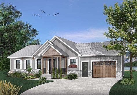 Ranch Style House Plan 76478 with 2 Bed 2 Bath 1 Car