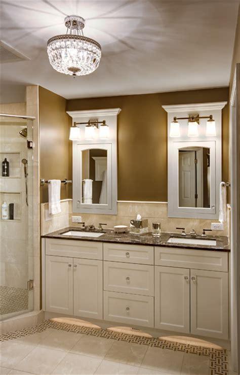 Bathroom Cabinet Lighting Fixtures by Master Bathroom Traditional Bathroom
