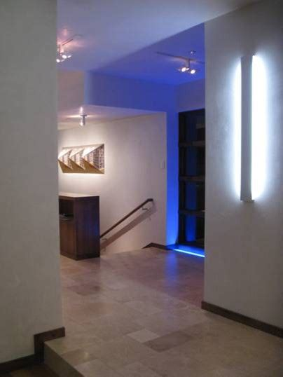 dynamic lighting modern hallway landing denver