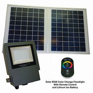 Sgg rgb r color selectable led solar flood light
