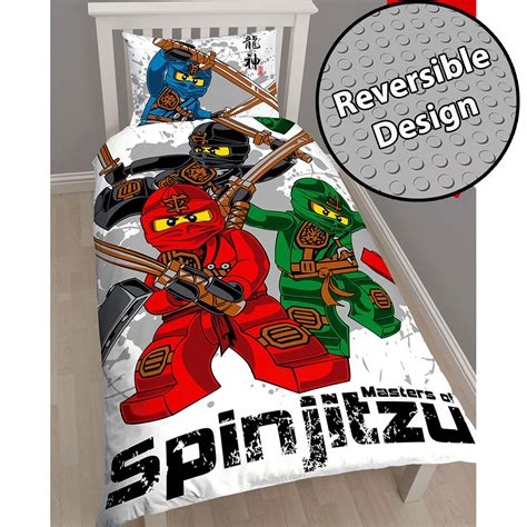 Lego Ninjago Warrior Single Duvet Cover And Pillowcase Set