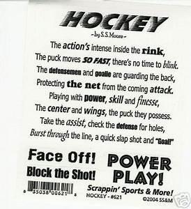 Hockey Poem 2 |... Ice Ball Quotes