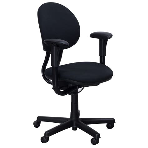 steelcase criterion series used task chair black