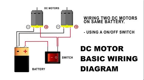 Dc Motor Switch Wiring Diagram how to wire a dc motor on battery with switch and relay