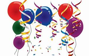Balloons and streamers clip arts, free clipart