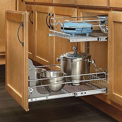 kitchen cabinet wire shelving rev a shelf 174 2 tier wire baskets www bedbathandbeyond 5867