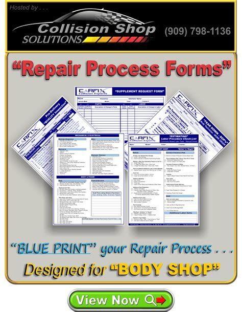 Why do painters need insurance? Repair Process Forms - for BODY & PAINT SHOP