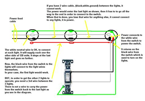 How To Wire 3 Light To One Switch Diagram by I Am Trying To Wire Three Lights To One Switch I The