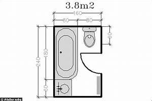 surface de 38 m2 le plan d39une petite salle de bains With plan salle de bain avec wc