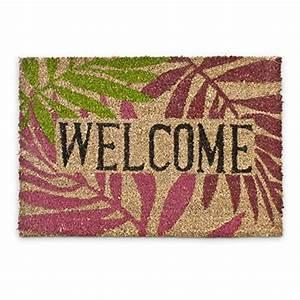Fußmatte Außen Kokos : relaxdays fu matte kokos palmenbl tter 40 x 60cm kokosmatte mit rutschfestem pvc bodem ~ Frokenaadalensverden.com Haus und Dekorationen