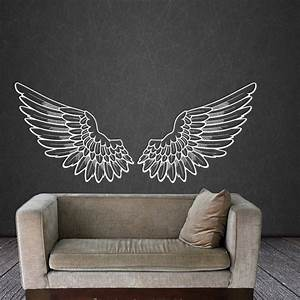 Angel wings wall decal vinyl sticker decals bird god big