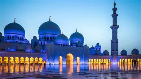 Sheikh Zayed Grand Mosque Blackout Dusk Abu Dhabi Hd