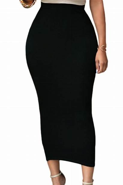 Pencil Skirt Maxi Bodycon Skirts Office Solid