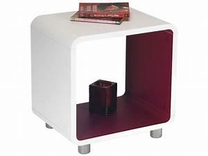 Table De Chevet Cube : chevet 1 niche boxi coloris blanc framboise vente de chevet conforama ~ Teatrodelosmanantiales.com Idées de Décoration
