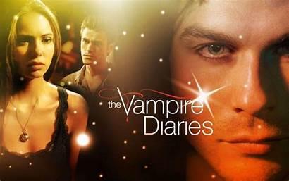 Diaries Vampire Wallpapers Tvd Damon Elena Tv