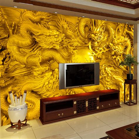beibehang golden dragon  wallpaper custom mural
