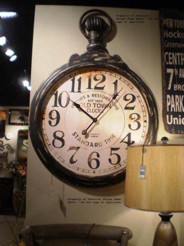 clocks decor large oversized pocket  style