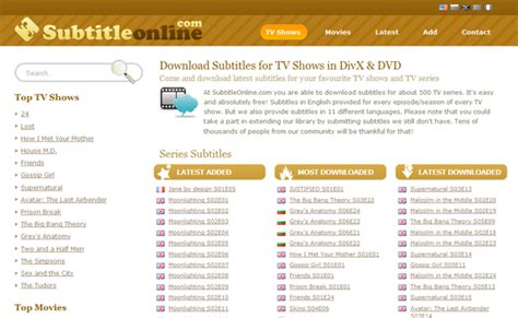 Subtitles are available in multiple languages. Top 5 Subtitle Download Sites to Download Subtitles you ...