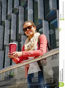Caucasian Woman Vivacious In City With A Beautiful Beaming ...