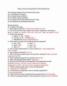 Physical Science Study Guide For Nine Weeks Exam The Following