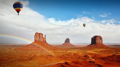 hot air balloons  mittens monument valley navajo