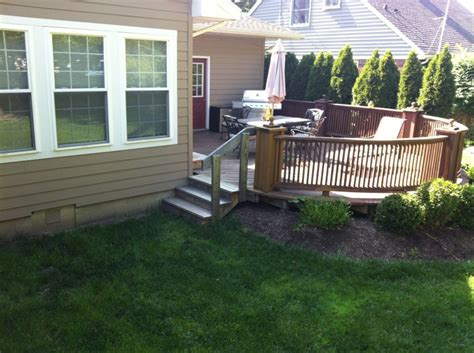 remove deck and concrete patio replace with sted